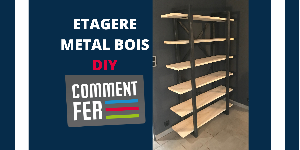 etagere metal bois