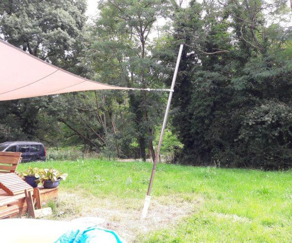 Comment fabriquer un mat pour voile d'ombrage ?
